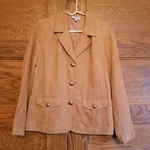 Studio Works Women's Tan Blazer Jacket